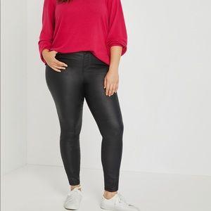 Eloquii Coated Skinny Jeans.